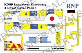 Royal Navy Police Landrover Discovery 4